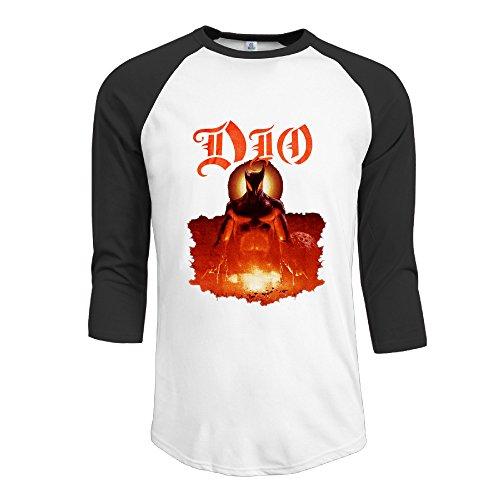 Mens Dio Holy Diver Heavy Metal Band Rudy Sarzo Crazy 3 4 Sleeve Raglan T Shirts Baseball Tops