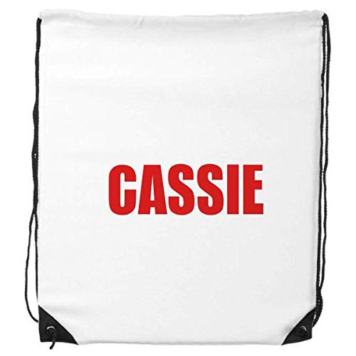 Cassie Flower Red Plant Drawstring Backpack Shopping Sports Bags Gift