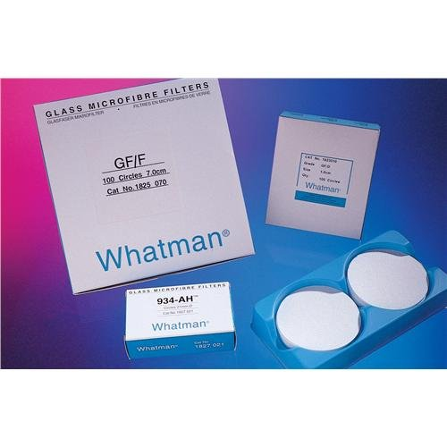 Whatman 1825-142 Glass Microfiber Binder Free Filter, 0.7 Micron, 19 s/100mL Flow Rate, Grade GF/F, 14.2cm Diameter (Pack of 25) by Whatman