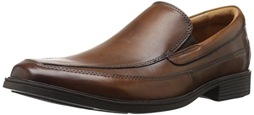 CLARKS Men's Tilden Free Slip-On Loafer, Dark Tan, 10.5 M - Clarks Shoes Dress