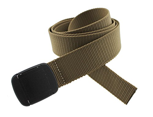 Hiker Belt Made in USA by Thomas Bates (Khaki) (Abstract Belt Buckle)