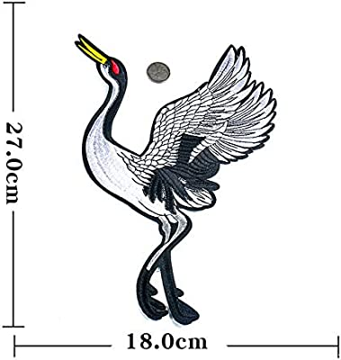 Red-crowned crane Applique Clothing Embroidery Patch Sticker Iron On Sew Cloth