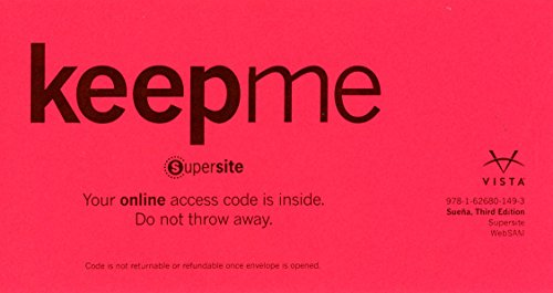 Suena 3rd Ed Supersite & WebSAM Code **CODE ONLY**