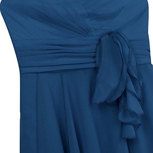 de 46 Danse Mariage de Demoiselle Femme Tiaobug Teal Robe Soire Chiffon Classique Bustier Cocktail Robe Menuet Bleu de Asymtrique de Robe Robe 34 Robe Robe Crmonie Bal d'honneur O48q8wTzUx