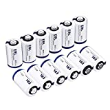 EBL CR2 3V 800mAh Lithium Photo Battery (12 Pack) with PTC Protection DL-CR2 for Mini 25 Mini 50 Mini 50S Mini 55 Pivi MP-100 & SP-1- Silver