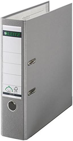Leitz 10105085 - Archivador con anillas (A4), color gris: Amazon.es: Oficina y papelería