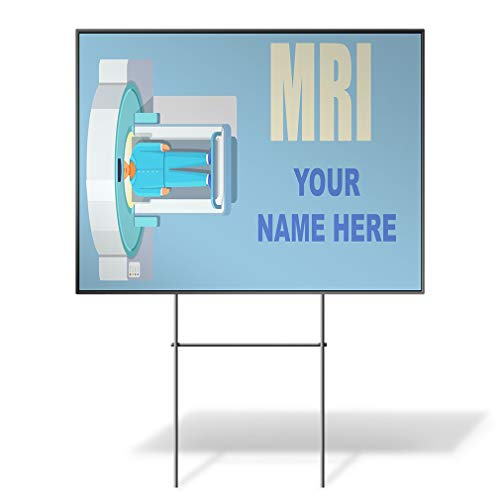 - MRI Name Medical Equipment Blue Custom Personalized Yard Sign MRI Scanner Blue Wheatherproof for Sale Sign Sets of 2, 3, 5 24INx18IN One Side Print Set of 5