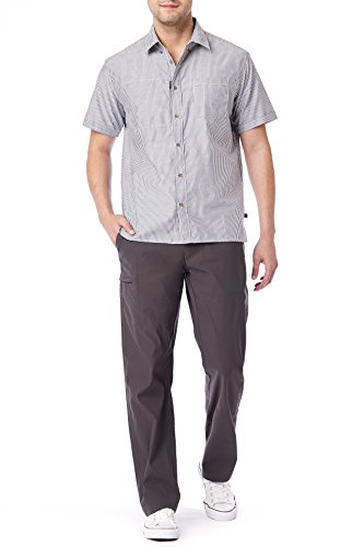 UNIONBAY Men's Rainier Lightweight Comfort Travel Tech Chino Pants, Charcoal, 36x30 by UNIONBAY (Image #3)