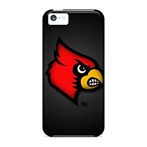 Defender Cases With Nice Appearance (louisville Cardinals) For Iphone 5c