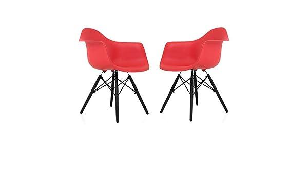 Fine Amazon Com Cozyblock Set Of 2 Eames Style Daw Scandinavian Cjindustries Chair Design For Home Cjindustriesco