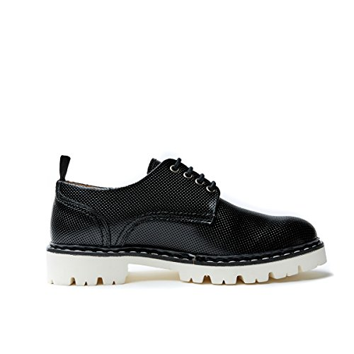 Derby Plain Passport Scarpa Stringata British Derby di Nero Black con Plain Decorazione Colore Donna xtqYUtnwd