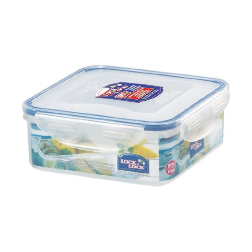 Lock&Lock 29-Fluid Ounce Square Food Container, Short, 3.6-Cup (Lock And Lock Microwave compare prices)