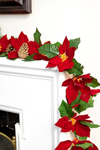Outdoor Lighted Poinsettias - 4