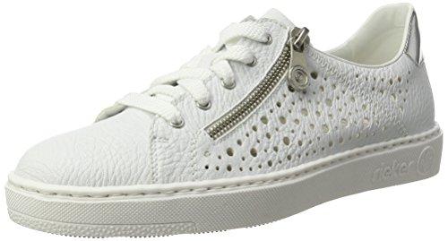 Blanc Femme Basses Argento 80 Sneakers Rieker Weiss M7917 IqgHnBxwC