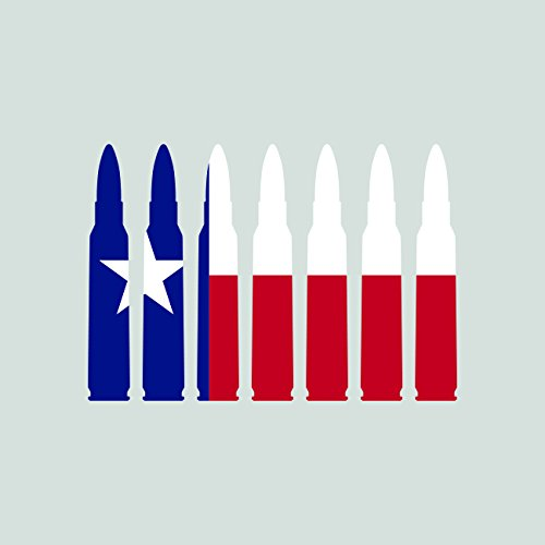 Texas Flag Bullet Ammo Sticker Self Adhesive Vinyl Decal FA Graphix TX .223 5.56mm 2a 2nd gun ()