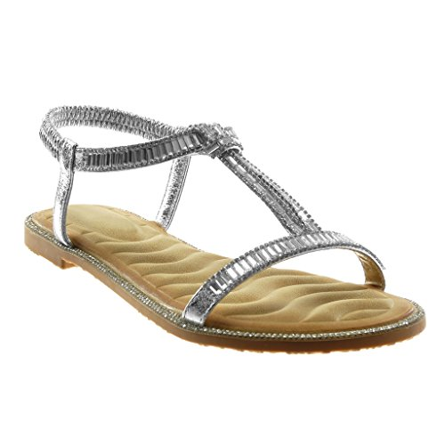 On Blocco Slip Caviglia Cinturino Moda Angkorly Donna Tacco Sandali Strass cm con Cinturino alla 1 Argento Fantasia Lucide a Scarpe tIqFqawx1