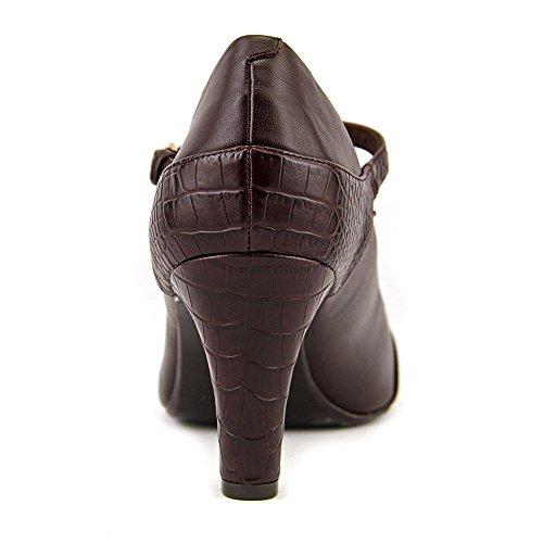Giani Bernini Womens Vineza Leather Cap Toe T-Strap Mary Jane Pumps Cacao MCNXF