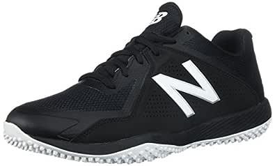 New Balance Men's T4040v4 Turf Baseball Shoe, Black, 8 D US