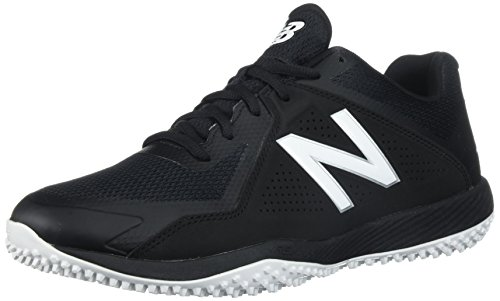 New Balance Men's T4040v4 Turf Baseball Shoe,Black/White, 12 D US