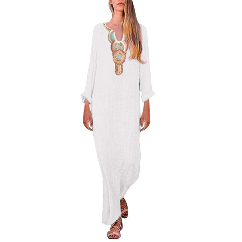 5b23607493cd1 Women Dresses Casual Summer Hosamtel Sleeveless Bohemian Floral ...