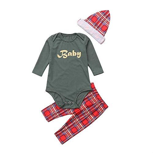 SANFASHION Pajamas Set Family Assorted Sleepwear Christmas Print Sleeve Long Suits Christmas Dad Mom Children (Baby Green 4.90)