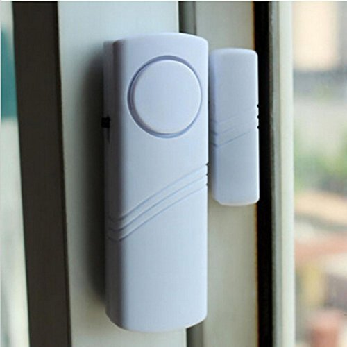 AutumnFall Alarm Unit, 120 dB Door Window Anti-theft Alarm Wireless Intelligent Detector CEUS Sensor Burglar Alarm (White)