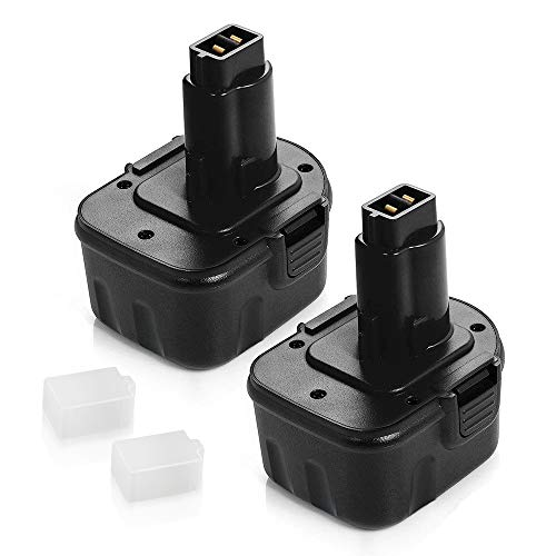2 Pack 3.6Ah Ni-MH for Dewalt 12v Battery XRP DW9071 DW9072 DC9071 DE9037 DE9071 DE9072 DE9074 DE9075 Replacement for Dewalt 12 volt Battery Cordless Power Tool ()