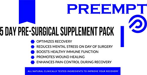 5 Day Pre-Surgical Supplement -> Surgeon Approved! The Most Effective Complete Surgery Recovery Supplement->Reduce Your Need for Pain Medications->Proven to Help You Recover