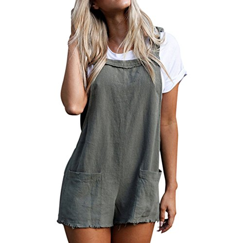 Meijunter Women Straps Jumpsuits Rompers Trousers Sleeveless Bandages - City Trousers Suit