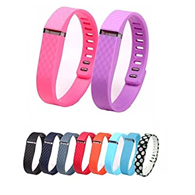 10PCS Replacement Bands with Clasps for Fitbit Flex Only /No Tracker/ Wireless Activity Bracelet Sport Wristband Fit Bit Flex Bracelet Sport Arm Band Armband-Large Size