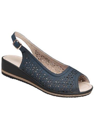 Ladies Comfort Slingback, Blu Scuro, Taglia 6-1 / 2 (ampia)