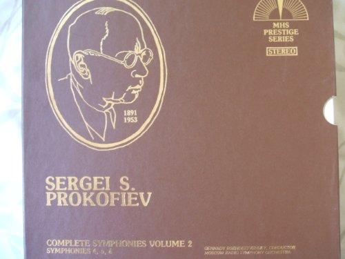 Sergei S. Prokofiev; MHS Prestige Series, Complete Symphonies Volume 2; Symphonies 4, 5, 6. Moscow Radio Symphony Orchestra, Boxed set, 3 - Lp Series Prestige