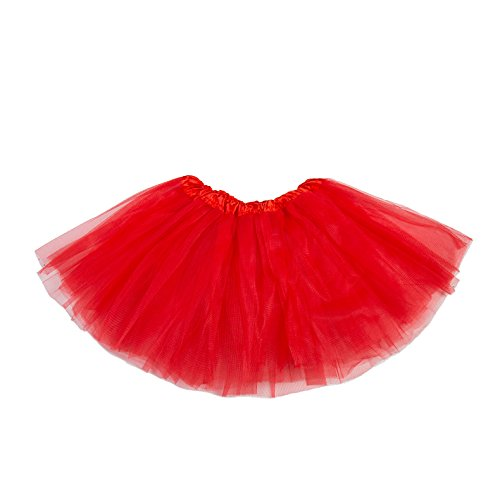 Toddler Red Tutu (belababy Girl Skirts 3 Layers Organza Baby Tutu, 2-8, Red)