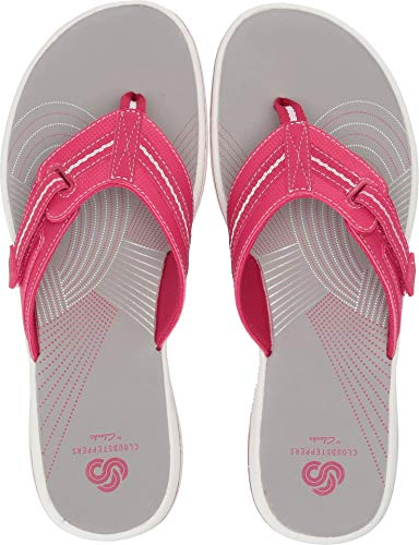 - CLARKS Women's Brinkley Jazz Flip-Flop Bright Rose Synthetic 7 M US