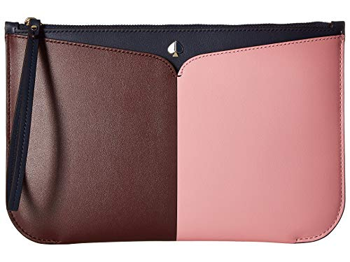 Kate Spade New York Women's Nicola Bicolor Large Wristlet, Roasted Fig/Rococo Pink, One Size