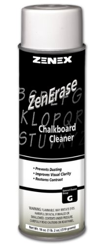 Zenex ZenErase Chalkboard Cleaner - 12 Cans (Case) (Chalkboard Cleaning Spray compare prices)