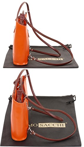 la nbsp;Versions et cuir à à Sac et nbsp;Comprend de à rangement un grandes Orange protecteur sac ou Moyen main en moyennes sac de main sac fabriqué italien bandoulière à dos Marron marque 6qanPqxAtw