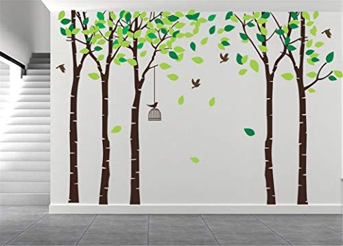 AmazingWall 180X264cm/70.9x103.9 Cartoon Large Tree Wall Sticker Living Room Bedroom Kids' Room Nursery Decor Home Decorations Removeable 1PCS/Set from AMAZING WALL
