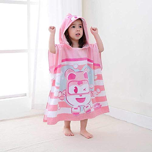 ren Hooded Cotton Towelling Poncho (Pink) ()