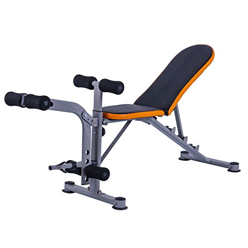 GUJJIFUN Adjustable Weight Bench Abs Workout Gym Press Fitness Trainer Dumbbells Lifting Incline Multi-Workout Abdominal/Hyper Back Extension Bench by GUJJIFUN