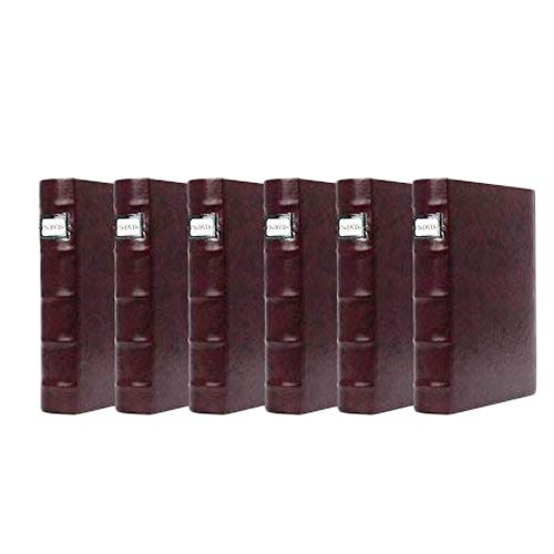 Bellagio-Italia Corona VIno (Purple) DVD Storage Binder Set - Stores Up to 288 DVDs, CDs, or Blu-Rays - Stores DVD Cover Art - Acid-Free Sheets Cd Album Cover Art