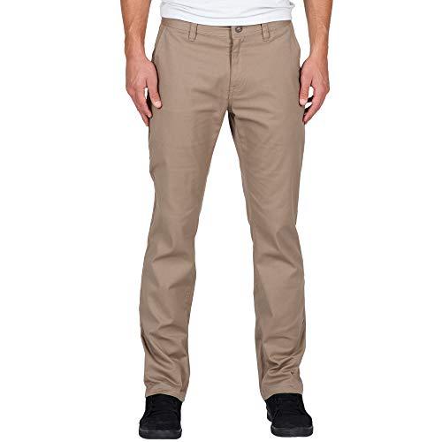 VOLCOM Men's Frickin Modern Fit Stretch Chino Pant, Khaki 2016, 36