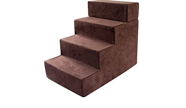 Amazon.com: Step stool Dog Stairs For Medium Dogs For Tall Bed, 4 Step Sponge Suede Pet Cat For Bed Sofa, Brown: Kitchen & Dining