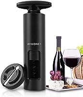 WIWONEY 2 en 1 sacacorchos de vino con vino abridor en Mango en forma de T y cortador de lámina como base