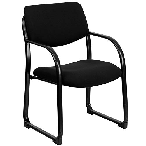 - Black Fabric Executive Side Reception Chair with Sled Base