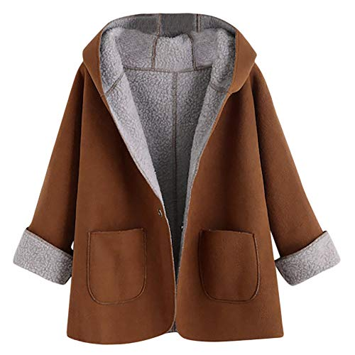 Franterd Women Casual Bomber Jacket Retro Button Faux Suede Short Coat Long Sleeve Outwear ()