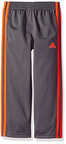 (adidas Boys' Toddler Iconic Tricot Pant, Five w/Grey Two, 2T)