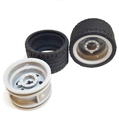 - Lego Parts: Power Racer Wheels Tire and Rim Bundle (2) Black 37mm x 22mm ZR Tires (2) Light Bluish Gray 30.4mm x 20mm Wheel Rims