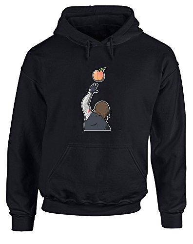 Peachy, Printed Hoodie - Black/Transfer S (X Men Cyclops Mask)