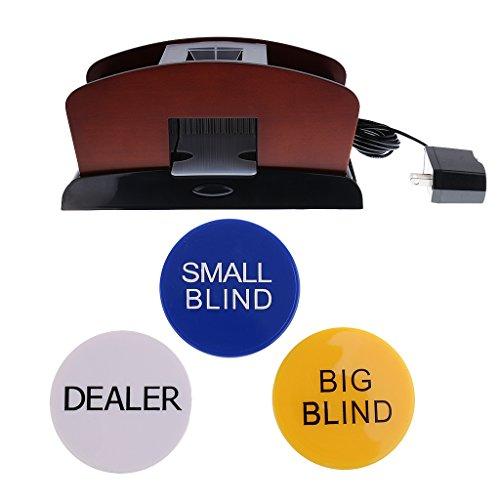 Baoblaze Casino 2 Deck Wood Automatic Card Shuffler Machine Poker Accessory+Dealer #2 by Baoblaze